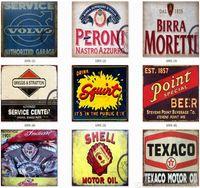 plaques de cuisine achat en gros de-Panneau De Tôle Mur Décor Peinture De Fer Autocollant Mural Rétro Bar En Métal Affiche de Garage Moto Cuisine Restaurant Bar Pub Café Décoration Art