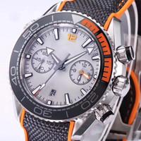 зеленые часы оптовых-Классический супер синий зеленый ночной свет часы Хронограф Кварцевые Часы Мужчины Лучший Бренд Модные часы Профессиональные Наручные Часы