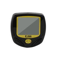 ingrosso retroilluminazione del tachimetro del calcolatore della bici-Portatile multifunzione Wireless LCD LCD digitale bici da bicicletta Computer Tachimetro contachilometri Retroilluminazione verde nero LJJZ68