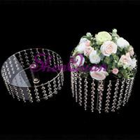 Wholesale beautiful wedding cakes for sale - Group buy set beautiful decoration crystal cake stands party supply cake stand for wedding party decoration