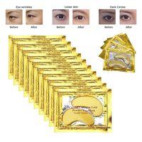 ingrosso rilievo del gel dell'occhio del collagene-Oro 24k Crystal Eye maschera al collagene patch Anti Aging occhiaie Maschere Puffiness Moisturizing Eye Gel Pads per Borse sotto gli occhi