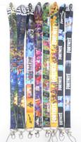 niedliche schlüsselbänder großhandel-neuer Entwurf kleiner Großhandels10pcs Anime-Spieljungenliebes-Karikatur nette populäre Abzugsleinen-Schlüsselkarte Identifikation-Kettenhals-Bügel-Partei-Geschenke # 194231