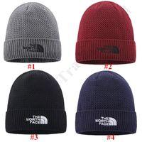 Wholesale crochet knitted hats for sale - Group buy The North Beanie Gorro Women Men Fleece Crochet Cap Face Wool Knitted Hat Warm Winter Skull Caps Hats Canada Outdoor Sports Ski Cap C92503