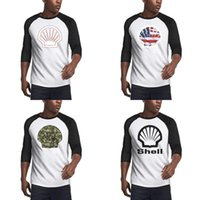 Wholesale card locator online – Men s Crew Neck T shirt Printing Cute shirts Tops Shell gasoline gas card logo America flag station Army camouflage locator Navy gray me