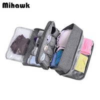 Wholesale bra bags black for sale - Group buy Mihawk Travel Underwear Bags Women s Cosmetic Makeup Clothing Bra Organization Weekend Overnight Pouch Accessories Product Stuff