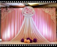 weiße seidenvorhänge großhandel-New White Sheer Silk Tuch drapiert Panels Hängen Hochzeit Vorhänge Foto Kulisse Hochzeit Veranstaltungen DIY Dekoration 124