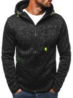 hoodie türleri toptan satış-Yeni Katı Renk Erkek Casual Hoodies Erkek Kapşonlu Hırka Uzun Kollu Kazak Fermuar Tipi Yumuşak Gevşek Siyah Ile Eşofman T6