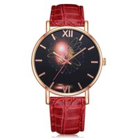 женские браслеты оптовых-Women Bracelet Watches Glass dial Crystal limited time promotion Women's Casual Quartz Leather Band Watch Analog Wrist Watch