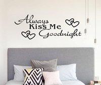 ingrosso adesivo vinile da camera da letto di bacio-