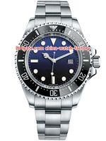 bezel habitante do mar venda por atacado-12 estilo de alta qualidade Topselling 44 milímetros Sea-Dweller 116660 D-azul 40mm116600 43 milímetros 126600 Ceramic Bezel Ásia 2813 Mens Automatic Watch Watches