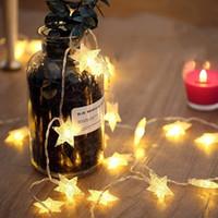 ingrosso le luci scintillanti delle stelle di stringa-10/20/40/50 LED Star Light String Twinkle Ghirlande alimentato a batteria Lampada di Natale Holiday Party Wedding Decorativo Fata Luci