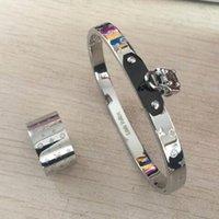 neue modemarken china großhandel-Neue titanium stahl hochzeit marke designer liebhaber ring für frauen luxus armbänder 3 farben fashion styles für frauen sets schmuck geschenke