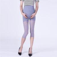 nylon dünne leggings großhandel-Ultradünne Frauengamaschen für Schwangere Sieben Punkte Strumpfhosen Einstellbar Bauchstraffung absorbieren Schweiß geformt Atmungsaktiv Nylon 43