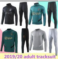 Wholesale full uniforms soccer for sale - Group buy 2019 new Ajax training suit Ajax tracksuit VAN DE BEEK DOLBERG Kluivert ajax tracksuit football uniform Size S XL