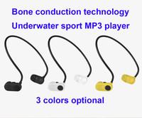 музыкальная песня mp3 оптовых-006 Подводный MP3-плеер Bone Conduction 8G / 16G Наушники Плавание Дайвинг Спортивная гарнитура Музыкальный проигрыватель песен