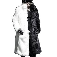 jaqueta couro masculino großhandel-Winter Männer Kunstpelz Jacke Schwarz Weiß Warme Dicke Jacke Mode Kunstpelz Jaqueta Couro Masculino s-3XL