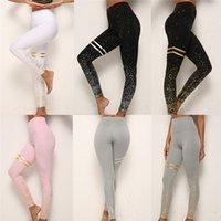 ingrosso oro-Leggings da yoga con stampa oro Lady Capretti sexy con stampa Esercizio a vita alta Slim Active Wear Lift Butts Fitness Pantaloni Donna Yoga Outfit