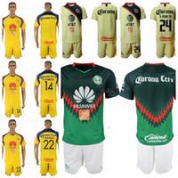 ca2d6f45be9 FC Club America 22 Paul Aguilar Jersey Set 1819 Men 24 Oribe Peralta 8  Mateus Uribe League Football Club Shirt Kits Uniform
