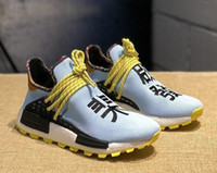 correr tr venda por atacado-Casual Shoes 2019 Solar Pack HU Inspiration TR Human Race Running Shoes Pharrell Williams Heart Mind NERD White Bold Core Black Sports
