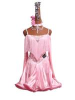 parıltı dansı elbiseleri toptan satış-Glitter Rhinestones Custom Made Latin Dans Elbise Kadınlar 2019 Yeni Seksi Fringe Salsa Samba Elbiseler Latin Rekabet Etek Dans