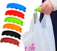 Wholesale Hot Simple Silicone Shopping Bag Basket Carrier Bag Carrier Grocery Holder Handle Comfortable Grip Grips Effort Save Body Mechanics SN2612