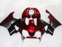 ingrosso abs di vendita di motocicli abs-Kit carena vendita caldo per carene Honda CBR900 RR 98 99 CBR900RR set moto nero rosso CBR919 1998 1999 KJ56