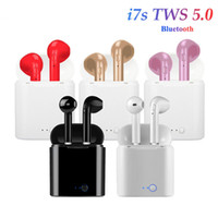 kulaklık paketi toptan satış-Bluetooth Headphones I7 I7S TWS Twins Earbuds Mini Wireless Earphones In-Ear Air Headset Pods V5.0 for phone Android with retail Package