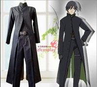 üniformalar toptan satış-Siyah Hei Anime Koyu Cosplay Kostüm Üniforma Kıyafet Cadılar Bayramı Custom Made