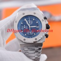 Wholesale heavy metal round for sale - Group buy NEW Montre de luxe a mens designer watches heavy All stainless steel metal strap Japan Quartz OS movement Blue dial Wristwatch mm