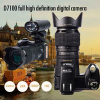 hd cmos objektiv großhandel-Digitalkamera 33MP Autofokus Professionelle SLR-Kamera Teleobjektiv Weitwinkelobjektiv Appareil Fototasche Stativ POLO D7100
