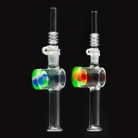embouts collecteur nectar 14mm achat en gros de-Nouveau collecteur de nectar en verre avec embouts de quartz de 10 mm et 14 mm