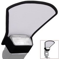 Wholesale camera flash diffuser resale online - Universal Camera Flash Diffuser Softbox Silver White Reflector for Canon Nikon Pentax Yongnuo Speedlite Photography Studio
