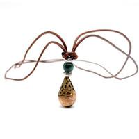 женские ожерелья оптовых-Womens Splendid Hollow Flower Wish Bottle Long Rope Chain Necklace Fine Jewerly For Friendship