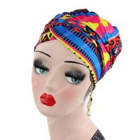 châle africain achat en gros de-Foulard africain de vente chaude longue écharpe couvre-chef juif femmes châle turban chaîne cheveux chevelu africain Headwrap Bohemian Headwrap Chem