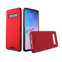 teléfonos celulares de capa al por mayor-Carcasas híbridas delgadas de armadura para iPhone XS Max LG G7 Samsung Galaxy S10 Plus A30 A50 de doble capa para trabajo pesado