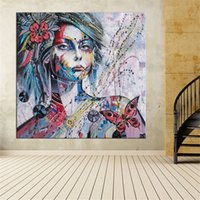 Wholesale portrait nude painting art resale online - 1 Large size Print Oil Painting Wall painting Girl portrait background Wall Art Picture For Living Room painting No Frame