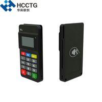 chip do leitor rfid venda por atacado-3-em-1 terminal de pagamento móvel Bluetooth MPOS com MSR Reader + IC chip / leitor de cartão NFC com Display / Teclado-HTY711
