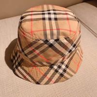 şapka güneş yanı toptan satış-Çocuklar Kova Şapka Çift Taraf Kapaklar Bebek Envy Mavi Güneşlik Erkek Kız Şapka Çocuk Ince Pamuk Made