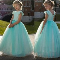 vestido de vestido de los mejores niños al por mayor-Vestido de la princesa de la vendimia con el vestido de niña de mejor encaje de flores For Kids cordón de nuevo desfile de vestidos para niña linda