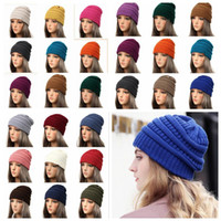 Wholesale wholesale sport beanie hats for sale - 25 color Winter caps baseball Adult Warm knitted Caps Casual Outdoor sports Hats winter Thicken Crochet Ski Warm Beanie Caps KKA6309
