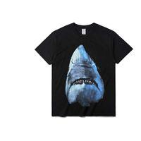 camisas do cão do algodão venda por atacado-Luxo Verão Dog Fashion Designer T Shirt Imprimir Cotton Tees Black Men Mulheres manga curta Tops S-2XL 008