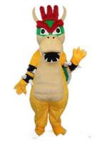 traje adulto do dia das bruxas do dragão venda por atacado-Hot new Super Mario Dragão Dinossauro Traje Da Mascote Dos Desenhos Animados Fancy Party Dress Halloween Carnaval Trajes Adulto Tamanho
