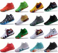 mamba venda por atacado-4s Kyrie IV Sorte Encantos Mens Tênis De Basquete Irving 4 Confetti BHM EQUIDADE All-Star March Madness Guardiões Da Cidade London Mamba Sneakers