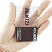 impresión de tarjetas plásticas al por mayor-(200pcs / lot) tarjeta transparente del negocio de encargo, tarjeta mate transparente, impresión plástica de la tarjeta de visita