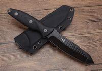 taktik bıçak kılıfları toptan satış-İyi finsh Mühürler Taktik bıçak bm43 MT Mühür Assault Squad Düz Bıçak Açık kamp survival bıçak kydex kılıf Ile 1 adet