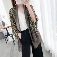 bufandas coreanas para mujeres al por mayor-Pañuelo de seda con estampado de leopardo para mujer primavera / verano 2019 nuevo versátil bufanda impresa con mantón largo Versión coreana pañuelos de protección solar SSXY035