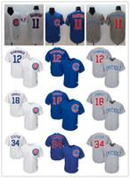 ben jerseys achat en gros de-Jeunes femmes Femmes Chicago 12 Kyle Schwarber 11 Yu Darvish 18 Ben Zobrist 22 Jason Heyward 34 Jon Lester Maillots de baseball personnalisés