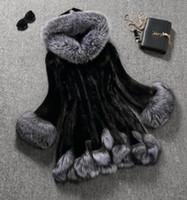 abrigo de zorro para mujer al por mayor-2019 el nuevo del diseñador mujeres ocasionales Escudo FauxFur Marca de piel de visón y piel de Fox de la alta calidad de la chaqueta informal B101450Q la capa S-6XL