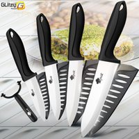 Wholesale chef cutter resale online - Ceramic Knife Inch Kitchen Chef Utility Slicer Paring Ceramic Knives Peeler Set White Zirconia Blade Cooking Cutter Tool
