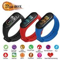 cradle entwürfe großhandel-M4 Smart Armband Fitness Tracker Schrittzähler Uhrenarmband Herzfrequenz Blutdruckmessgerät Smart Armband Für Android Cradle Design